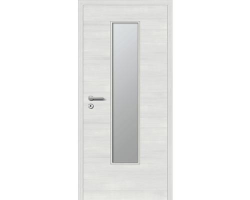 Innentüre DONAU Soft Plus stumpf grigio quer inkl. Lichtausschnitt (ohne Glas) 87,2x201,6 cm rechts