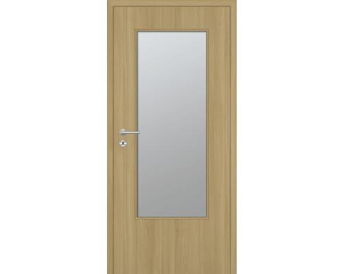 Innentüre DONAU Soft Plus stumpf natura buche längs inkl. Lichtausschnitt (ohne Glas) 92,2x201,6 cm rechts