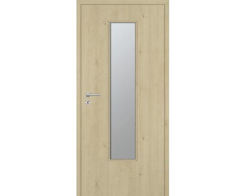 Innentüre DONAU Soft Plus stumpf natura ahorn längs inkl. Lichtausschnitt schmal (ohne Glas) 77,2x201,6 cm rechts