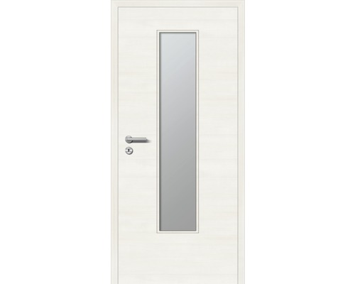 Innentüre DONAU Soft Plus stumpf bianco quer inkl. Lichtausschnitt (ohne Glas) 92,2x201,6 cm rechts