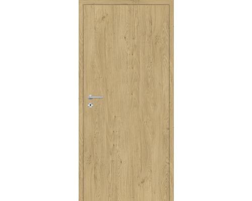 Innentüre DONAU Soft Plus stumpf natura eiche längs 77,2x201,6 cm rechts