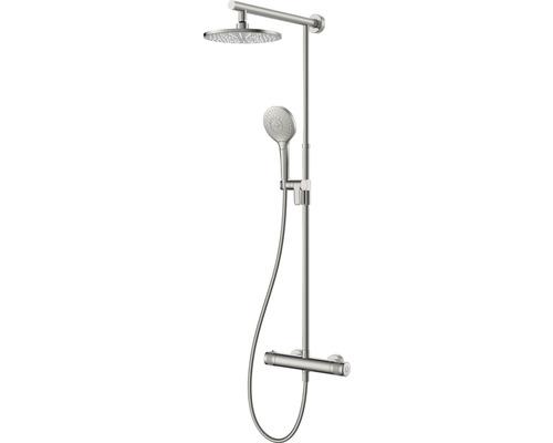 Duschsystem Avital Tidan mit Thermostat edelstahl gebürstet