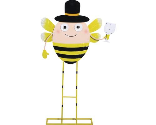 Dekofigur Biene mit Hut H 101 cm Metall gelb schwarz