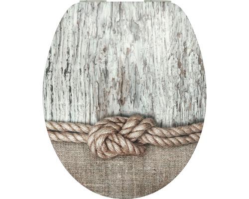 WC-Sitz Form & Style MDF Sculpture Rope mit Absenkautomartik