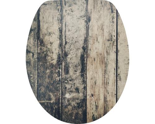 WC-Sitz Form & Style MDF Oldwood mit Absenkautomartik