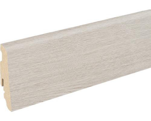 Sockelleiste FU060L MDF Bergeiche grau foliert 19x58x2400 mm
