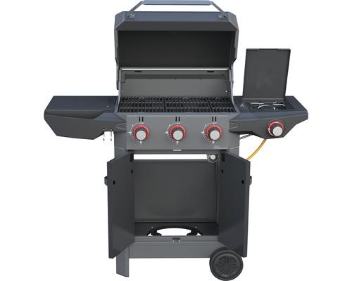 Tenneker® Gasgrill Carbon 3-Brenner + Seitenbrenner, gusseiserner Rost, Platform System