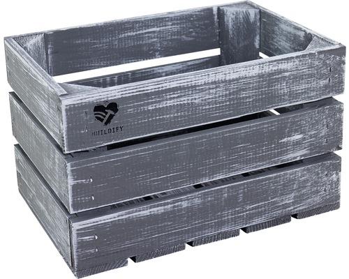 Buildify Kiste grau 34x23x21 cm
