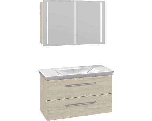 Badmöbel-Set Scanbad Multo 176x105x47,9 cm weiß Ulmen