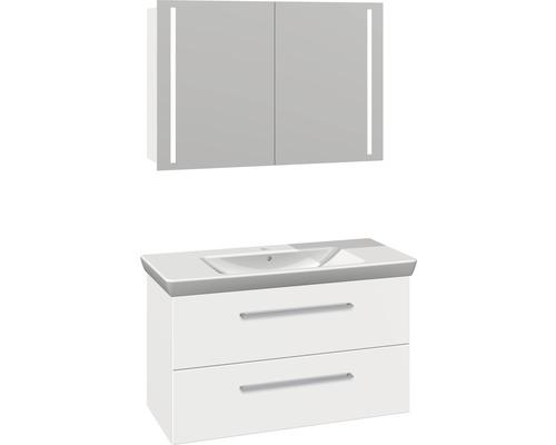 Badmöbel-Set Scanbad Multo 176x105x47,9 cm weiß matt