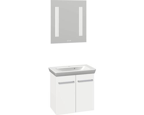 Badmöbel-Set Scanbad Multo 176x65x38,2 cm weiß matt