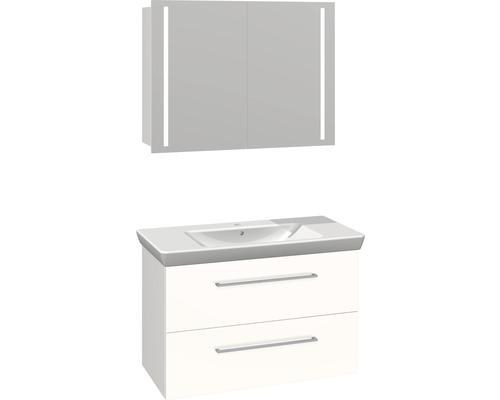 Badmöbel-Set Scanbad Multo 176x105x47,9 cm weiß hochglanz