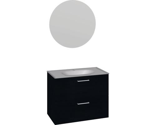 Badmöbel-Set Scanbad Play 176x81x44,5 cm schwarz Eiche
