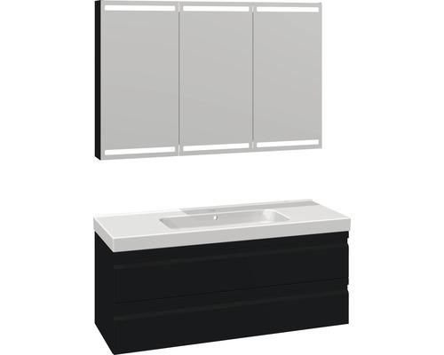 Badmöbel-Set Scanbad Spezial DSC Menuet 176x121x45 cm schwarz matt