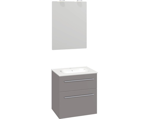 Badmöbel-Set Scanbad Delta 176x61x45 cm grau
