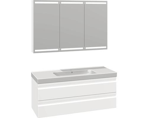 Badmöbel-Set Scanbad Spezial DSC Menuet 176x121x45 cm weiß matt