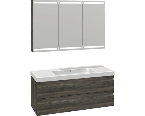 Badmöbel-Set Scanbad Spezial DSC Menuet 176x121x45 cm Cedar grey