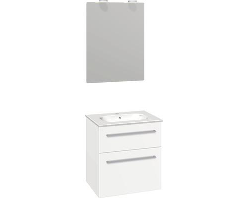 Badmöbel-Set Scanbad Delta 176x61x45 cm weiß matt