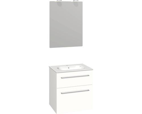 Badmöbel-Set Scanbad Delta 176x61x45 cm weiß hochglanz