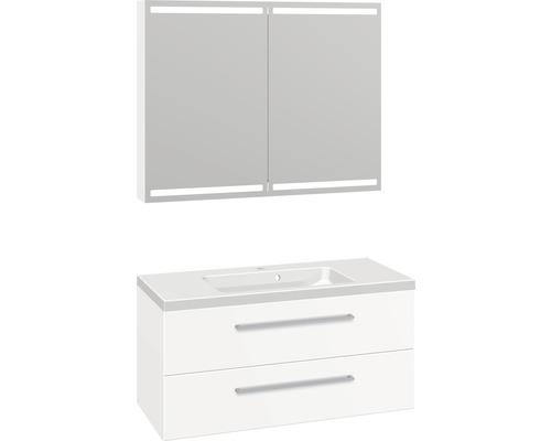 Badmöbel-Set Scanbad Delta 176x100,2x45 cm weiß matt