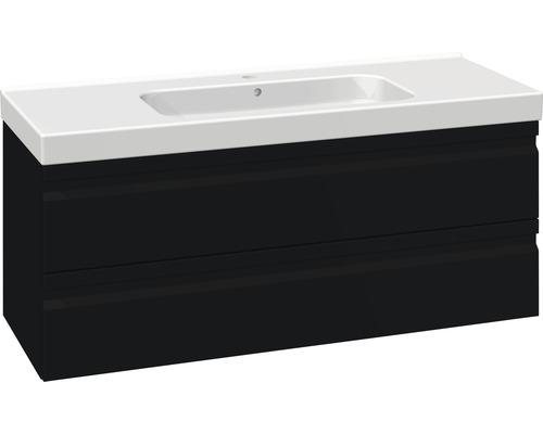 Badmöbel-Set Scanbad Spezial DSC Menuet 56x121x45cm schwarz matt