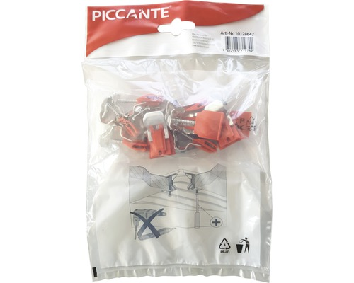 Befestigungsklammern Piccante für Edelstahlspülen