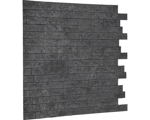 Kunststoffpaneel Backstein grau 10x610x610 mm