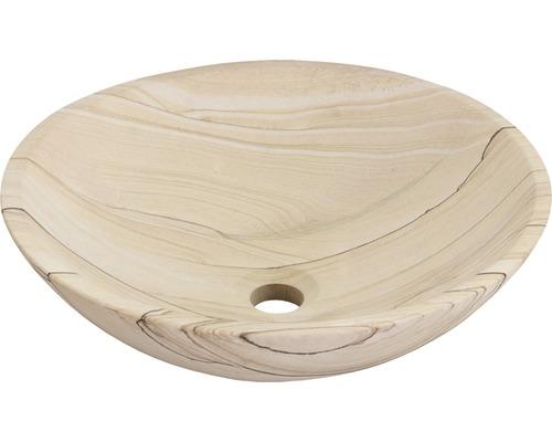 Aufsatzwaschbecken Sandstone 40x40 cm Naturstein Sandstein
