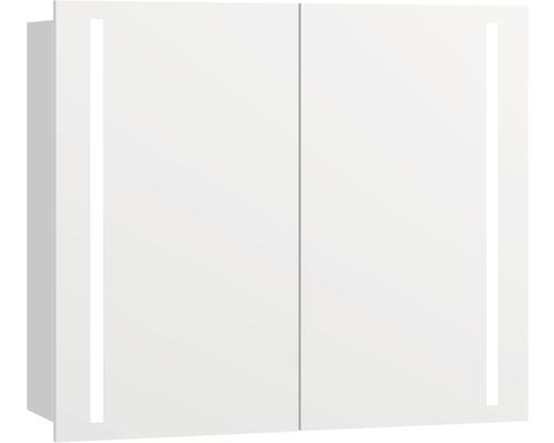 Spiegelschrank Scanbad Molto 80x64x19 cm 2-türig weiß matt