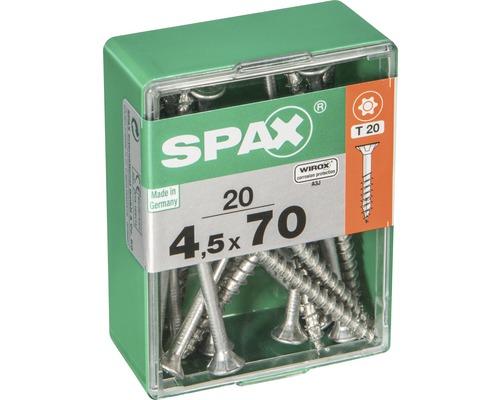 Spax Universalschraube Senkkopf Stahl gehärtet T 20, Holz-Teilgewinde 4,5x70 mm, 20 Stück