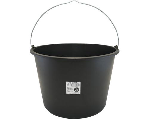 Baukübel Kunststoff Schwarz 20 Liter