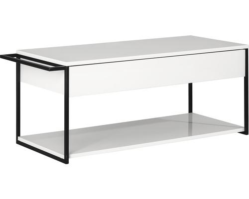 Waschtischunterschrank Fackelmann New York 108,5x43x47,5 cm weiß hochglanz ohne Waschbecken