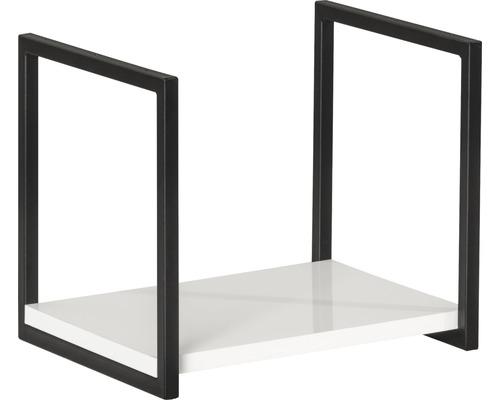 Wandregal Fackelmann New York 33x28x28 cm weiß hochglanz