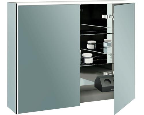 LED-Spiegelschrank Baden Haus SPACE 90x70 cm 2-türig verspiegelt