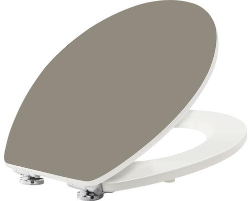 WC-Sitz form & style Color Edge Taupe matt mit Absenkautomatik