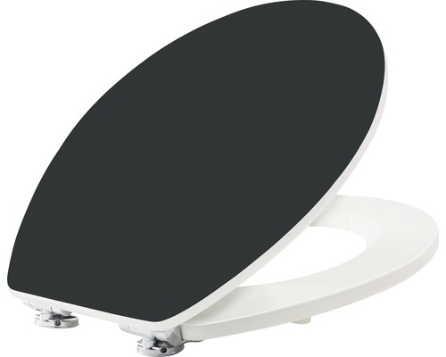 WC-Sitz form & style Color Edge schwarz mit Absenkautomatik