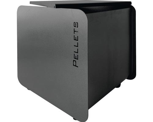 Pelletbehälter Lienbacher 54x50 cm schwarz mit Rollen