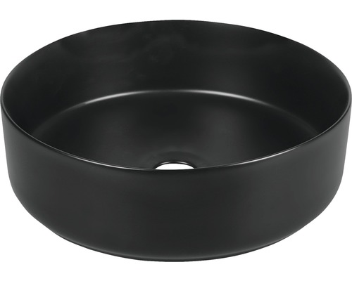 Aufsatzwaschbecken Mira rund 36 cm schwarz matt