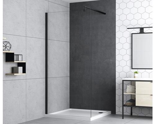 Seitenwand für Duschtüre basano Modena 900x1950 mm Echtglas Klar hell schwarz