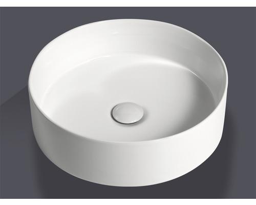 Aufsatzwaschbecken Jungborn Imion 40x40 cm weiß inkl. keramischen Ablaufventil