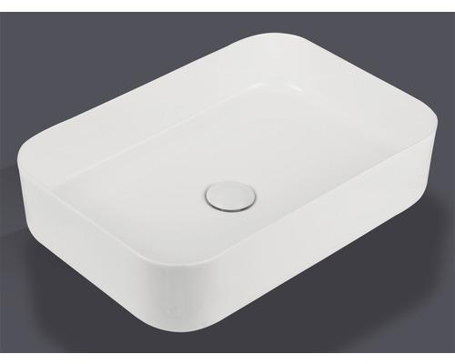 Aufsatzwaschbecken Jungborn Thalon 50x35 cm weiß inkl. keramischen Ablaufventil