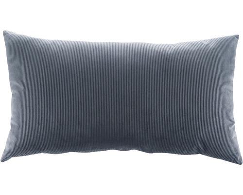 Kissen Kord grau 40x70 cm