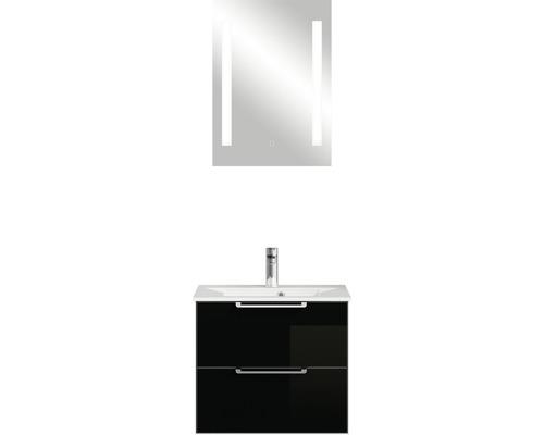 Badmöbel-Set Pelipal Xpressline 3065 200x61,8x44,7 cm Glas schwarz mit Spiegel