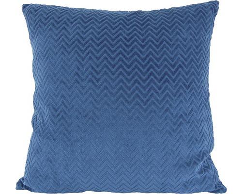 Kissen Zikzak blau 43x43 cm