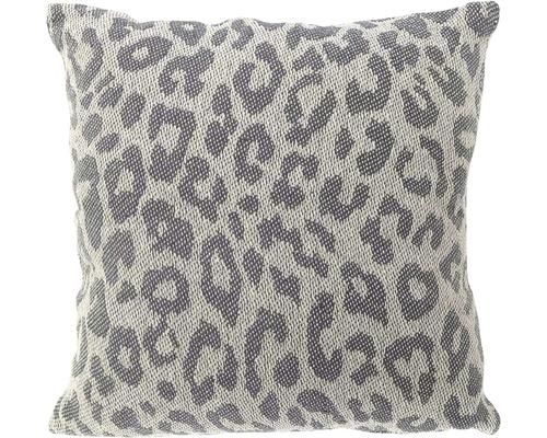 Kissen Leopard dunkel grau 45x45 cm