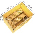 Saunahaus Karibu Opal 1 inkl.9kW Ofen u.integr.Steuerung mit Holztür und Isolierglas wärmegedämmt anthrazit/weiß