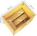 Saunahaus Karibu Theos ohne Ofen mit Fenster und Holztür mit Isolierglas wärmegedämmt anthrazit/weiß