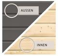Saunahaus Woodfeeling Turmalin 1 inkl.9kW Ofen u.integr.Steuerung ohne Vorraum und Fenster mit Holztüre und Isolierglas wärmegedämmt anthrazit/weiß