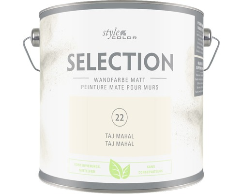 Premium Wandfarbe Style Color SELECTION konservierungsmittelfrei Taj Mahal 2,5 L