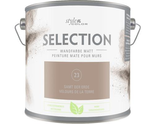 Premium Wandfarbe Style Color SELECTION konservierungsmittelfrei Samt der Erde 2,5 L